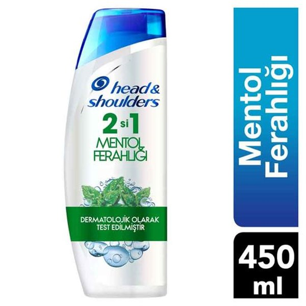 Head & Shoulders 2 si 1 Arada Şampuan Mentol Ferahlığı 450 ml