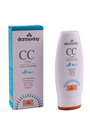 Dermoday Color Correcting CC Cream 02 Orta Ton 60 ML