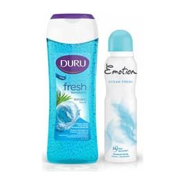Emotion Ocean Fresh Deodorant 150 ML Duru Duş Jeli Okyanus 250 ML