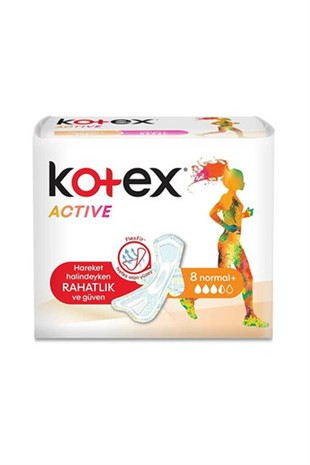Kotex Active Tekli Normal 8 li