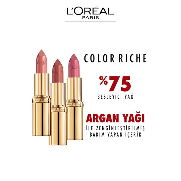 Loreal Paris Color Riche Saten Bitişli Ruj 110 Made in Paris Nude