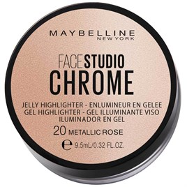 Maybelline New York Face Studıo Chrome Jel Aydınlatıcı - 20 Metallic Bronze