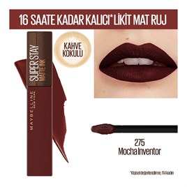 Maybelline New York Super Stay Matte Ink Likit Mat Ruj - 275 Mocha Inventor