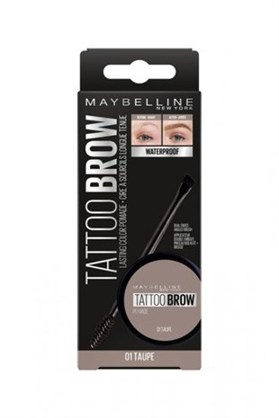 Maybelline New York Tattoo Brow Kaş Pomadı 01 Taupe Açık Ton