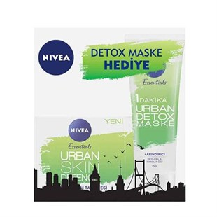 Nivea Urban Skin Gündüz Kremi 50 ML + Detox Maske 75 ML Set