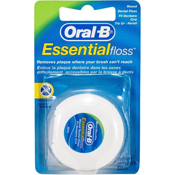 Oral-B Diş İpi 50 M Essential Floss Waxed Naneli